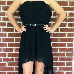 Strapless black Flowy dress
